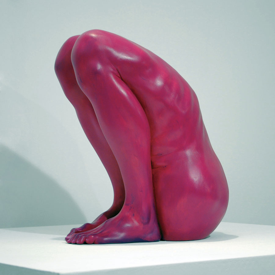 Bogdan Rata, Lonely, polyester, synthetic resin, fibre, paint, 2011, 42x33x25 cm