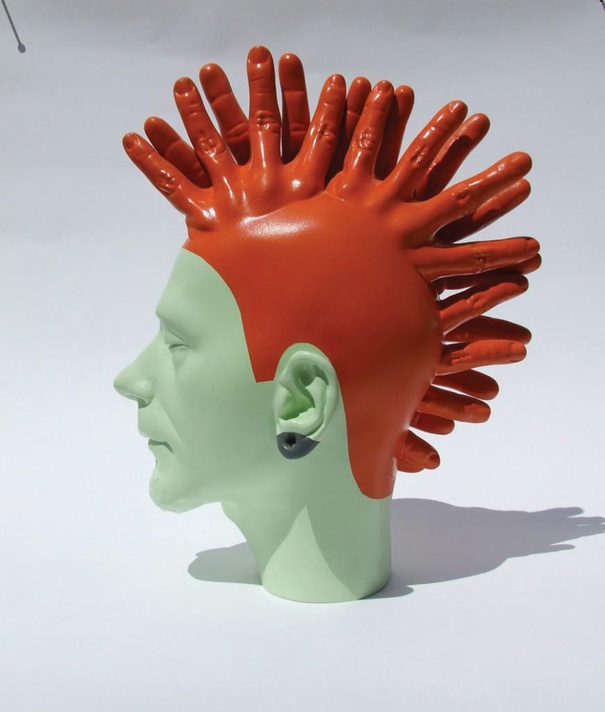 Bogdan Rata, Punk, polyester, paint, 2008, 36x34x21 cm