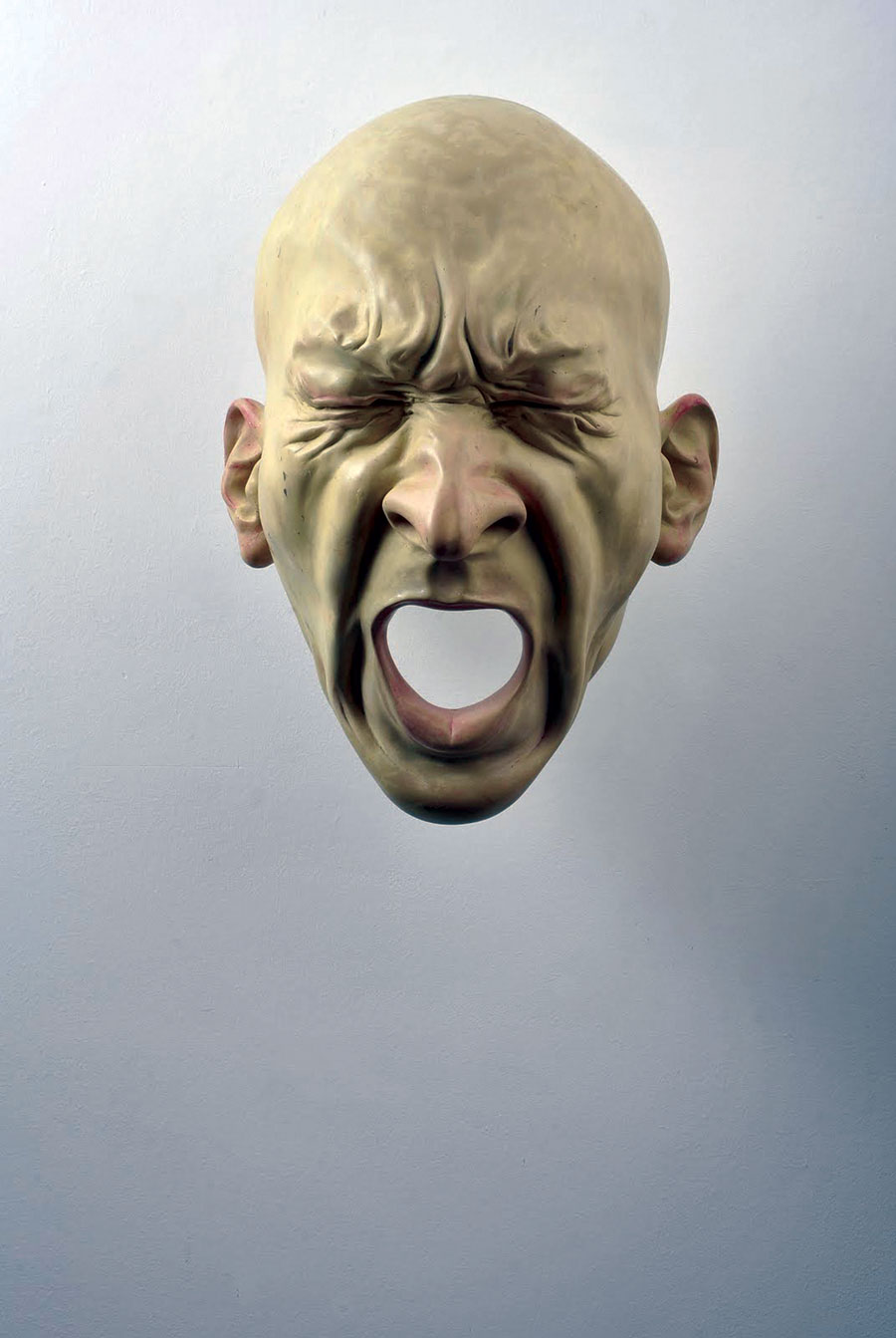 Bogdan Rata, Scream, polyester, synthetic resin, metal, paint, 2008, 57x46x34 cm