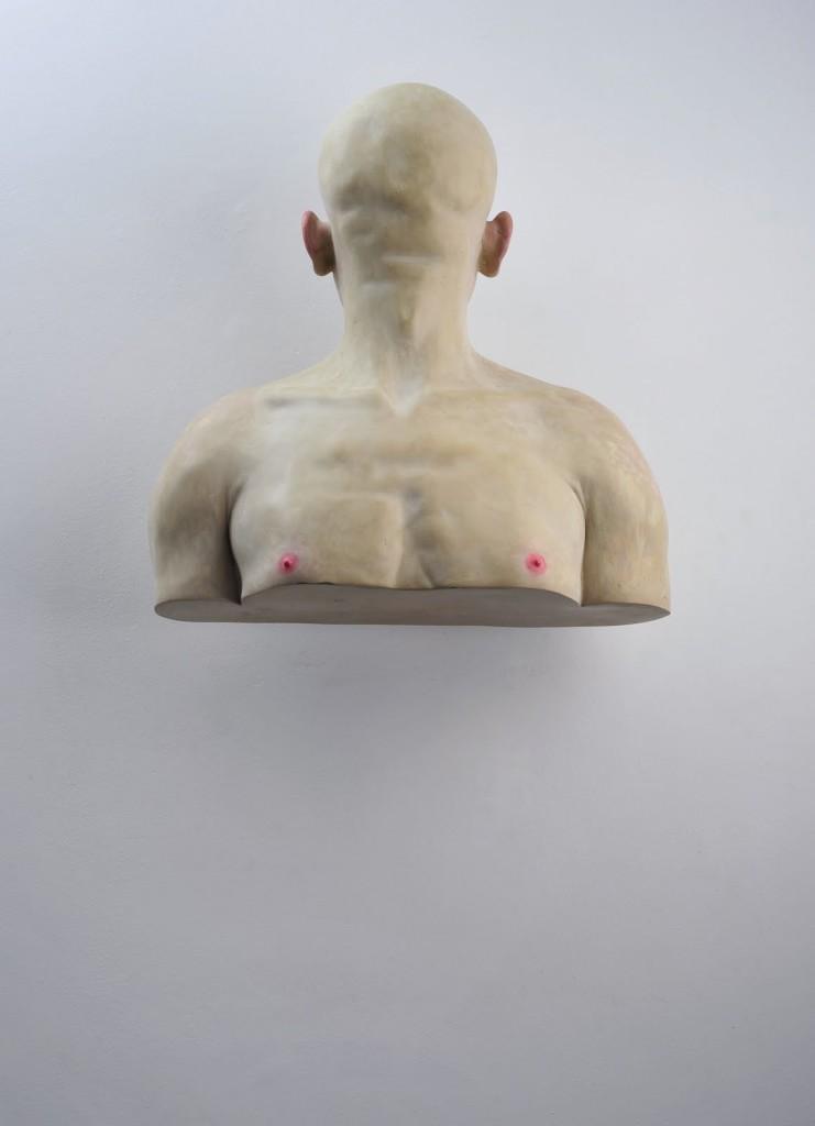 Bogdan Rata, Self to the Wall, 2008, 62 cm (height), 58 cm (width), 24 cm (depth)