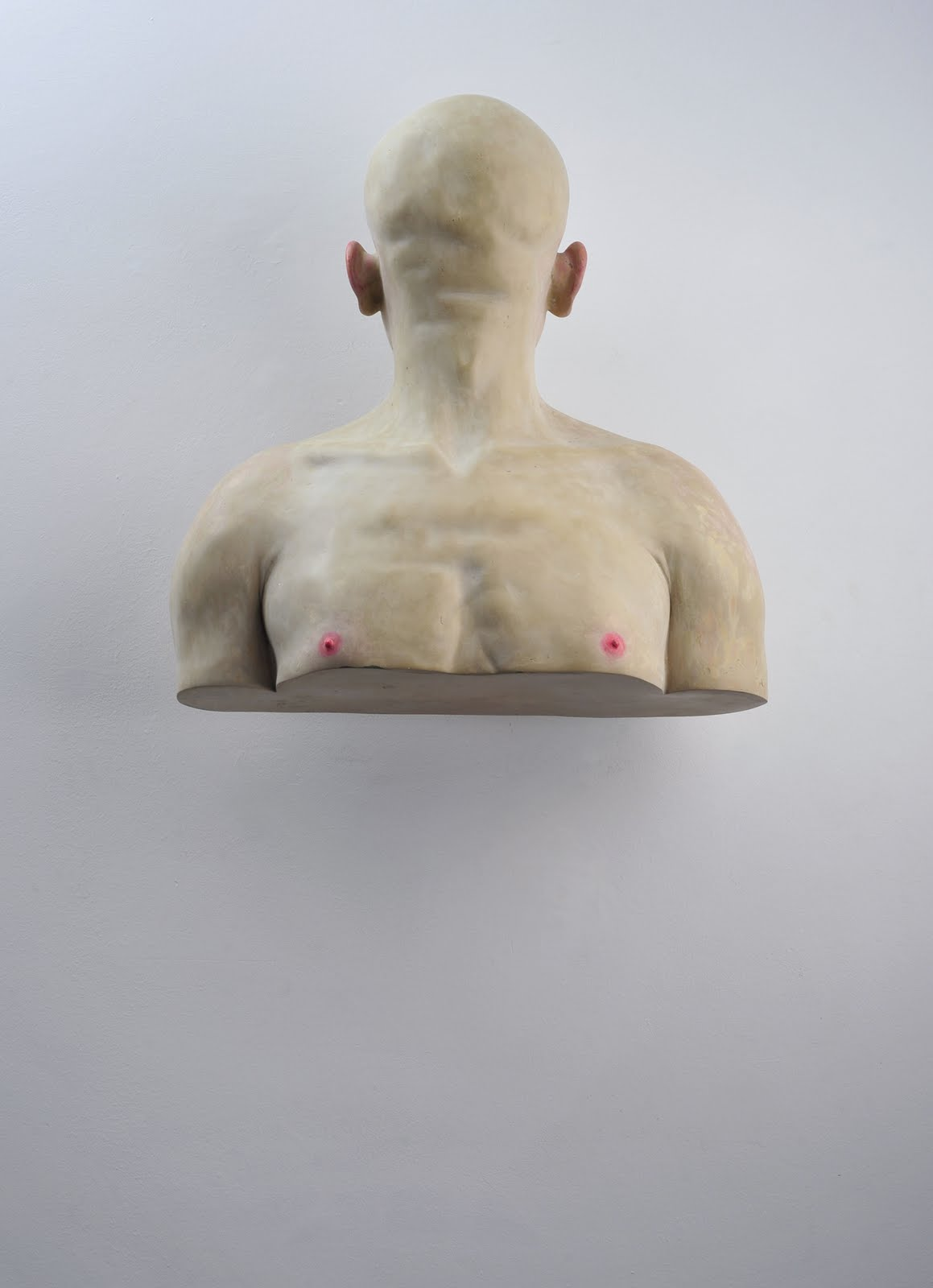 Bogdan Rata, Self to the Wall, 2008, 62 cm (height), 58 cm (width), 24 cm (depth)