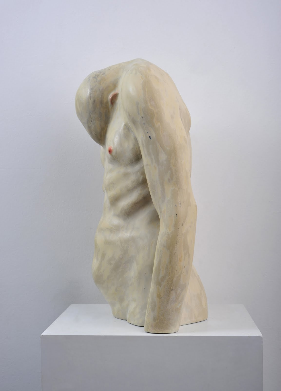 Bogdan Rata, Shame, polyester, synthetic resin, fibre, paint, 2009, 52x36x12 cm