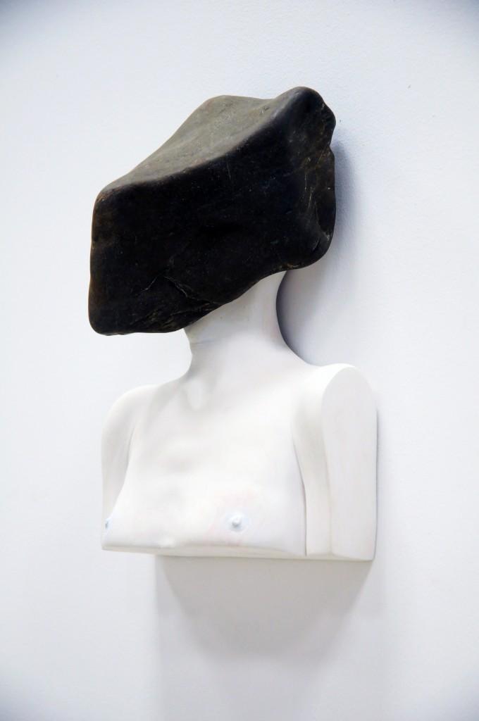 Bogdan Rata, The Pressure 2, 2015, Fibre, river stone,  28×20×12 cm