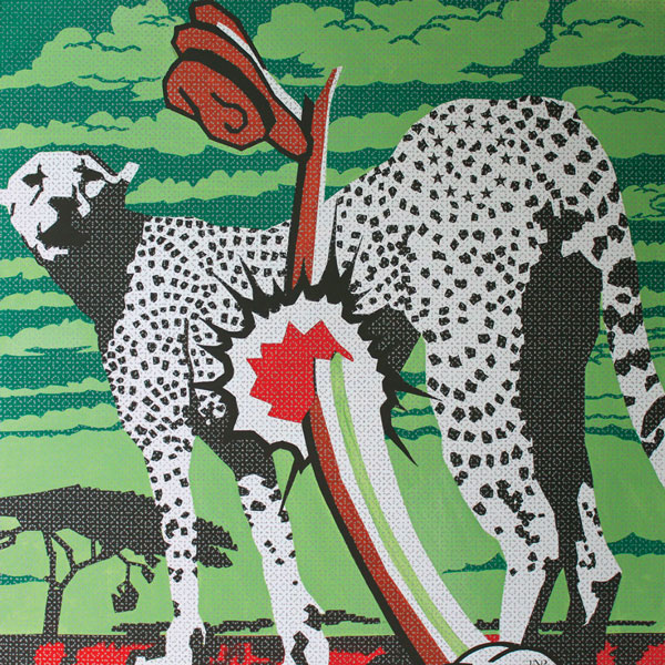 Exit and Transfer Information - Intensive Safari - Kenia, 2009, acrilyc on canvas, 150 x 150 cm