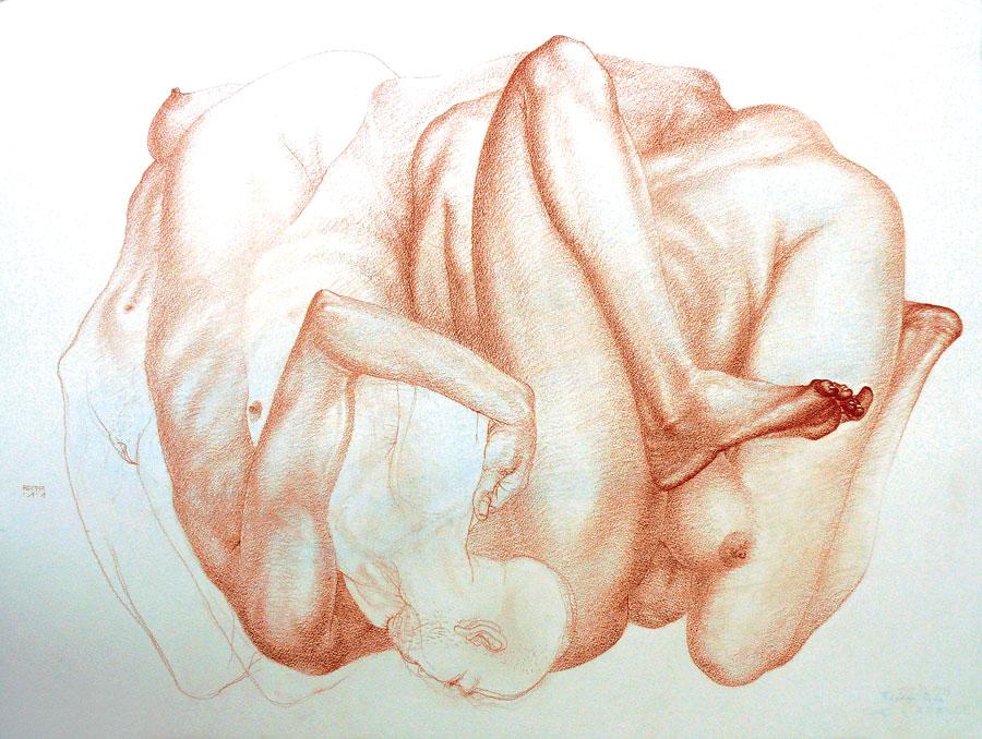 Bogdan Rata, Drawings, 2011, conté & pastel on paper, 75 x 55 cm