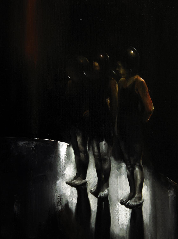 Radu Belcin, Blinking contest, 2011, 40x30 cm