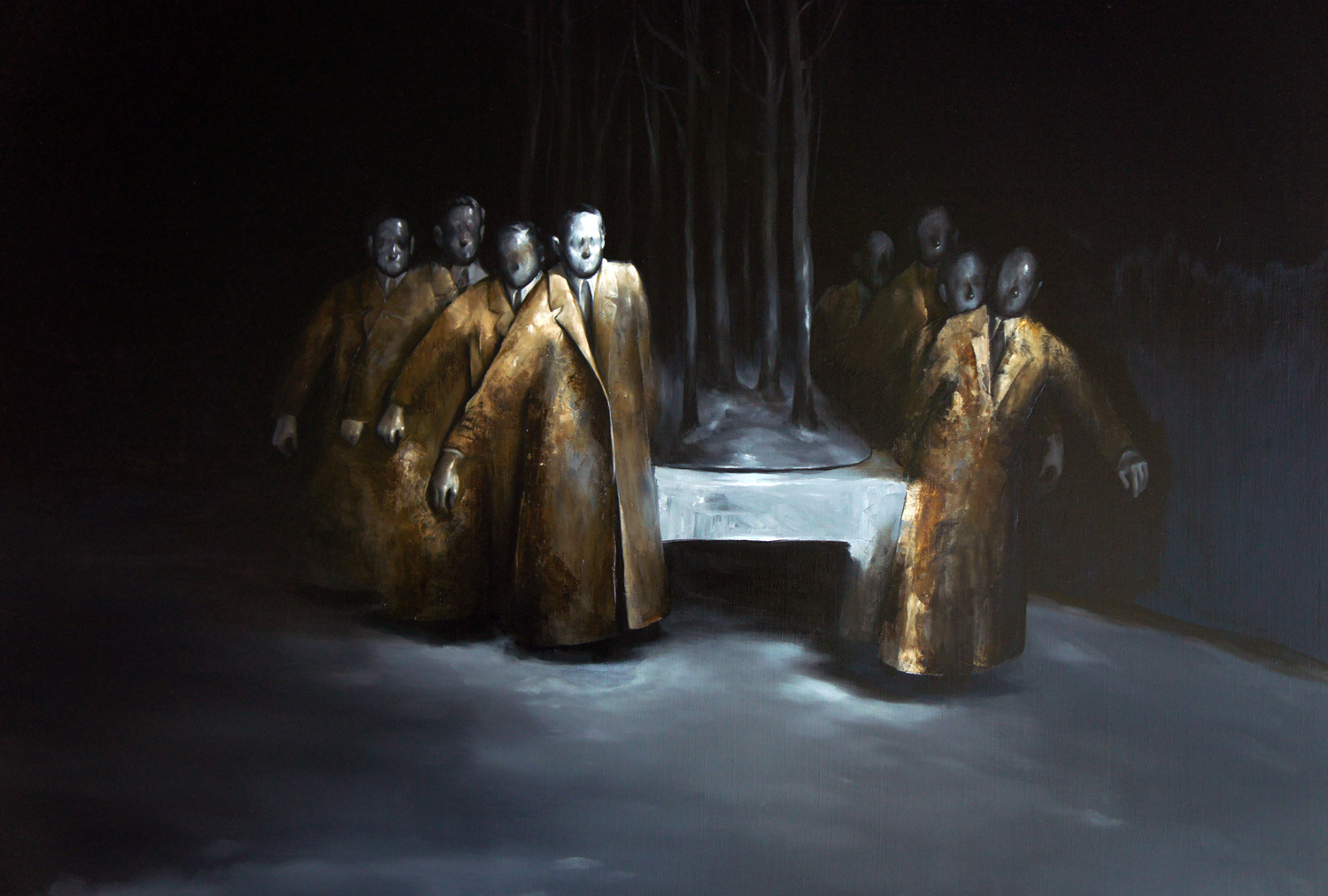 Radu Belcin, Golden jury, 2012, Oil on canvas, 80 x 100 cm