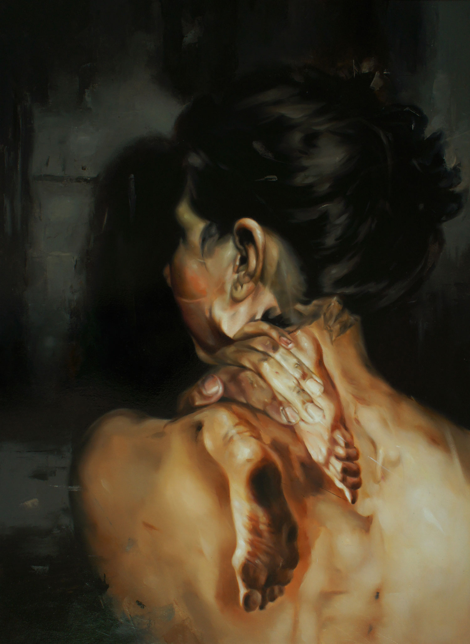 Flavia Pitis, Wrapped in Reality, 2013, 135x120cm, oil on canvas