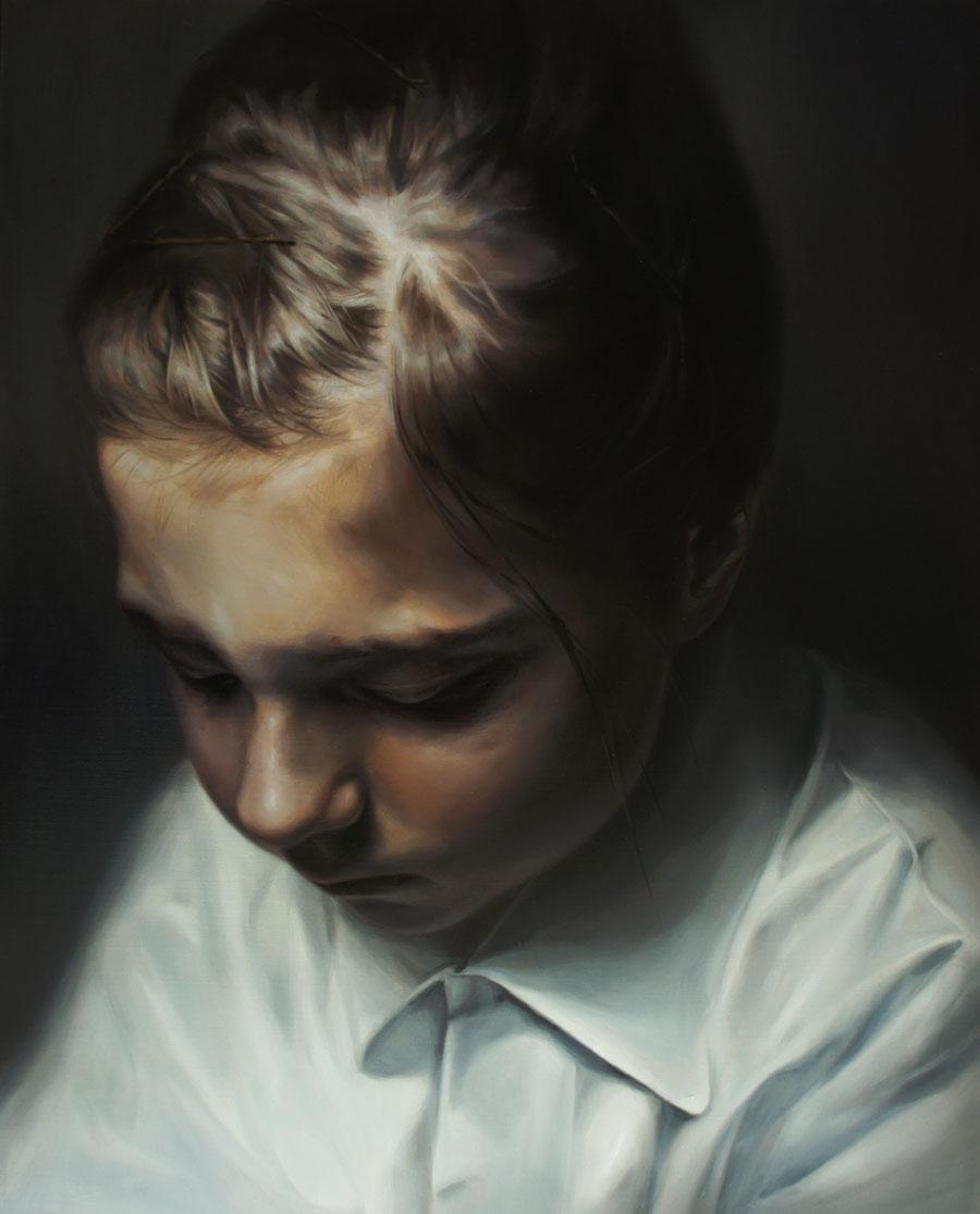 Flavia Pitis, Never felt a calm so deep, 2012, oil on canvas,100x80cm