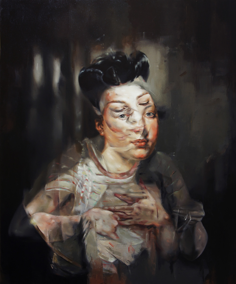 Flavia Pitis, Artificial history 2013, oil on canvas, 120x140cm