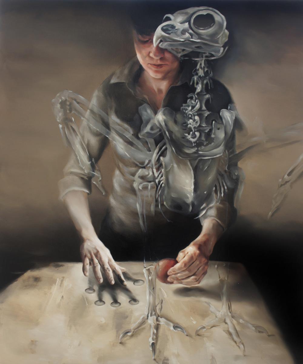 Flavia Pitis, Craftmanship 2013, oil on canvas, 100x120cm