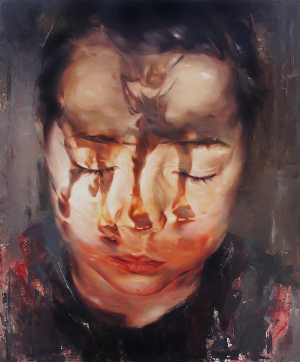 Flavia Pitis, Long term relation, 2013, oil on canvas, 100x120cm