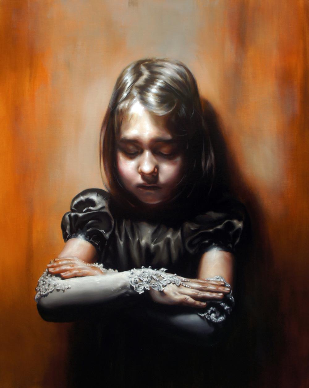 Flavia Pitis, Soul with a hole, 2013, oil on canvas, 100x80cm