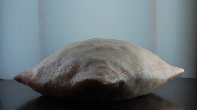 Felix Deac, Dead Pillow, 2011, Sculpture Mixed  Media 7.1 x 15 x 15 inch (HxWxD)