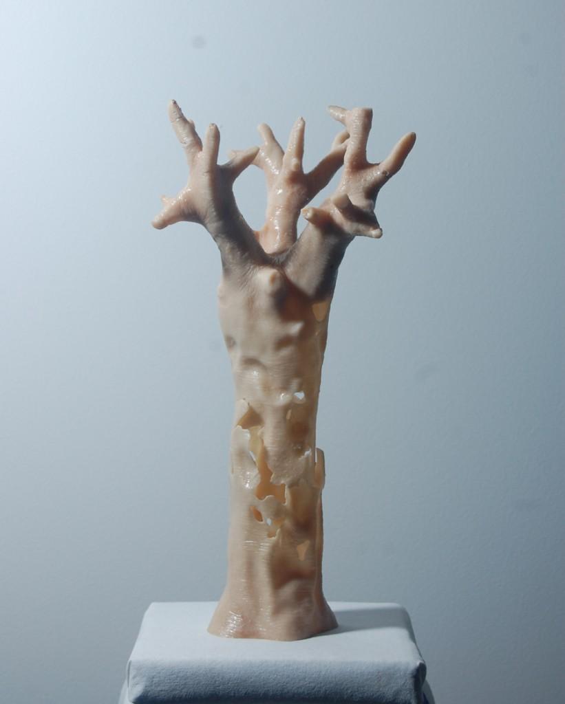 """Felix Deac, """"Sketch"""", 2015, Sculpture, Mixed Media, 40×15×15 cm (HxWxD)"""