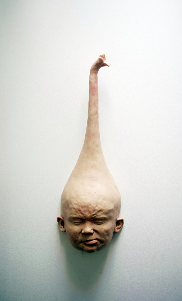 """Felix Deac, """"Plastic existence 3"""", 2015, Sculpture, Mixed Media, 32×20×30 cm (HxWxD)"""