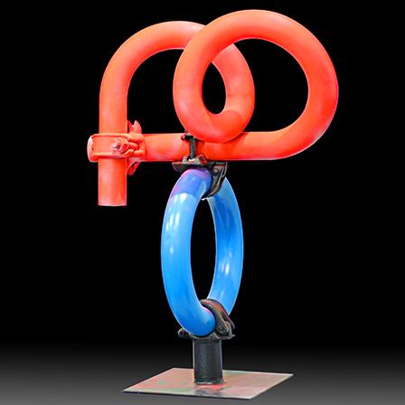 Cristian Todie, Loop, 2009, painted steel, h 70 cm
