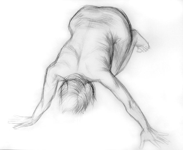 Alexandru Rădvan, study for Cancer, 2007, drawing, pencil on paper, 50 x 70 cm
