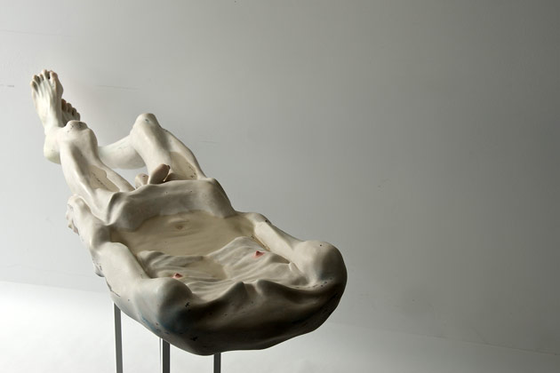 Bogdan-Rata,-Trying-to-Keep-Life,-2012,-polyester,-synthetic-resin,-fibre,-paint,-metal,-water,-153-x-36,5-x-17-cm-(2)