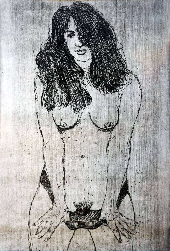 Mircea Suciu, Retro Porn, 2007, etching, edition 1 from 10, 14  x 9 cm