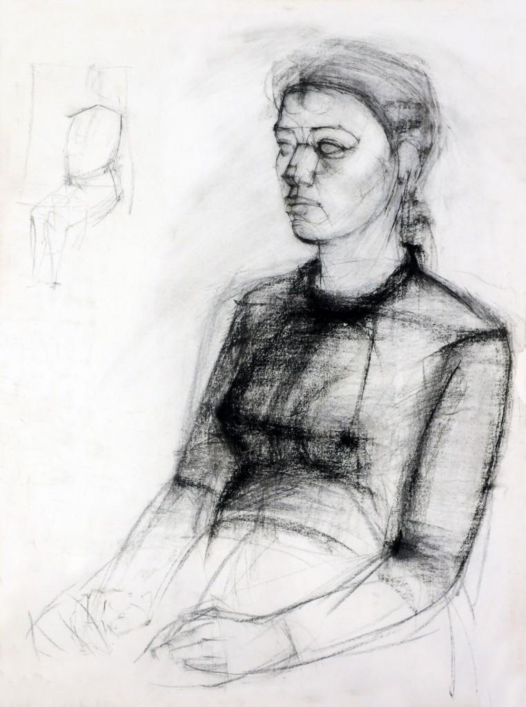 Mircea Suciu, Study, 1995, charcoal on paper, 70 x 50 cm