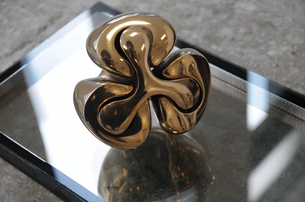 Gabriel Kelemen, Trinity, bronze, 7.9 x 11.8 x 7.9 in, 2015