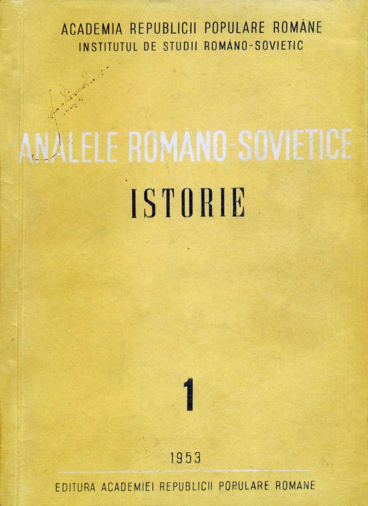 Analele Romano-Sovietice, Editura Academiei RPR, 1953, special issue dedicated to Stalin death