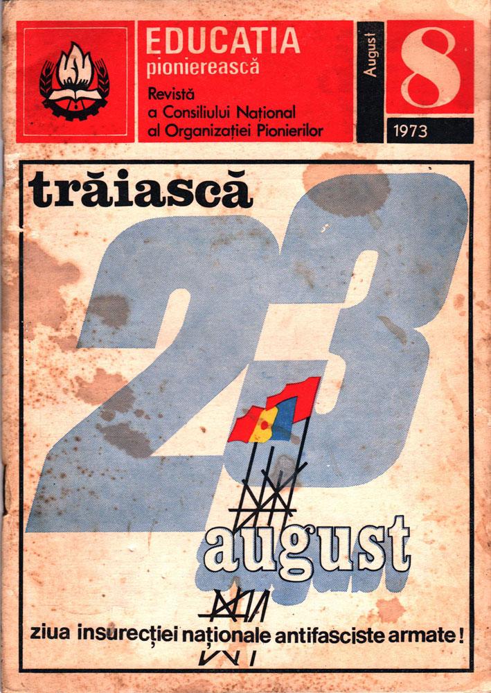 Educație pionierească nr 8 august 1973