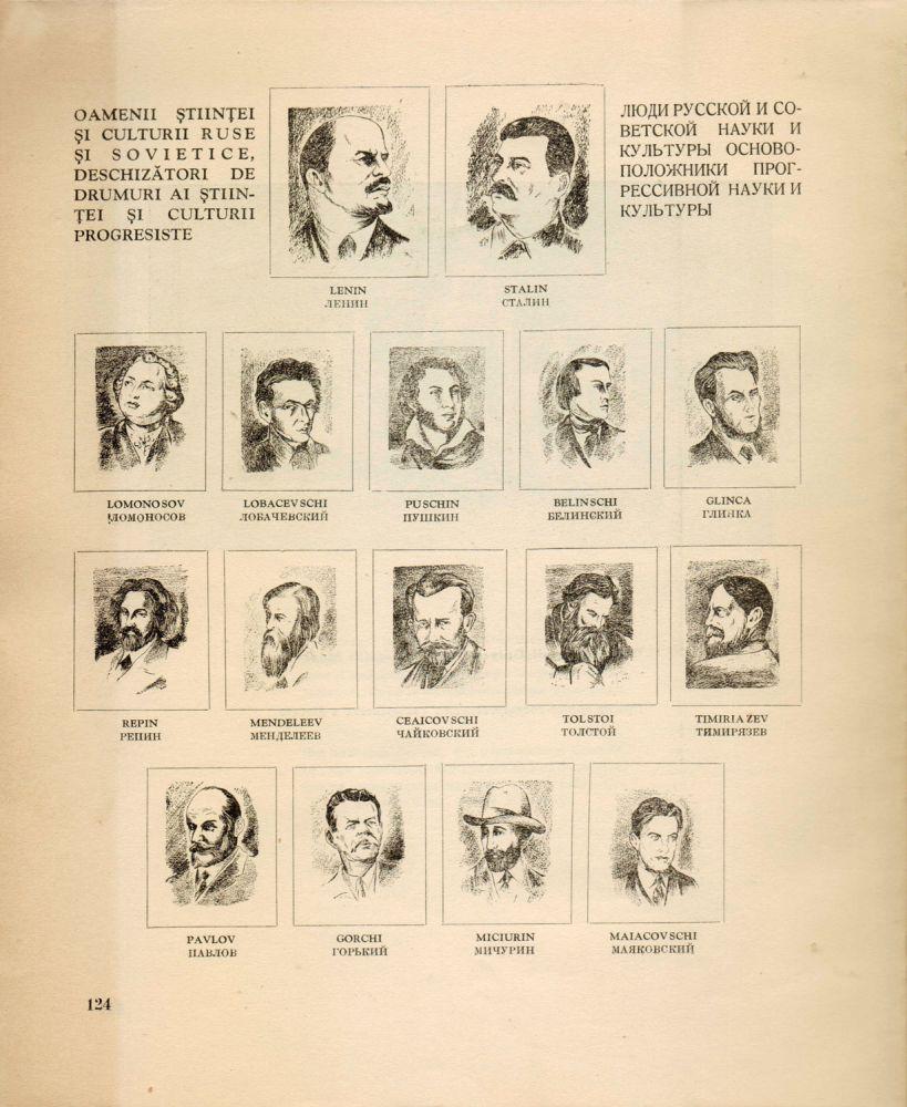 Oamenii stiintei si culturii ruse si sovietice din Muzeul Romano-Rus, Editura Academiei RPR, 1950