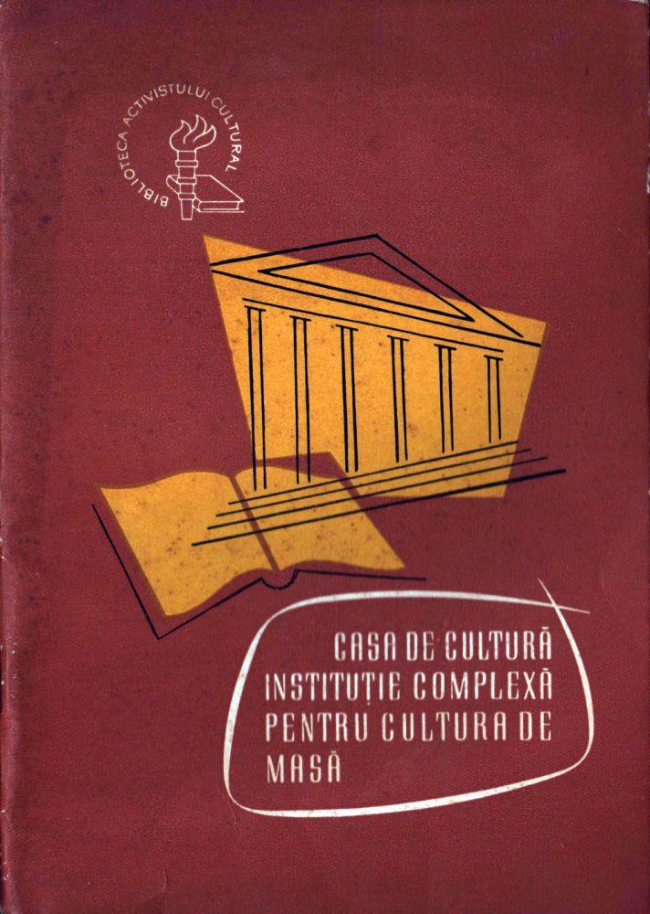 Casa de cultura, Comitetul de Stat pentru Cultura si Arta, 1964
