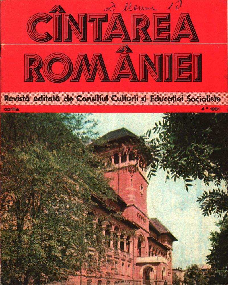 Cintarea Romaniei, aprilie 1981