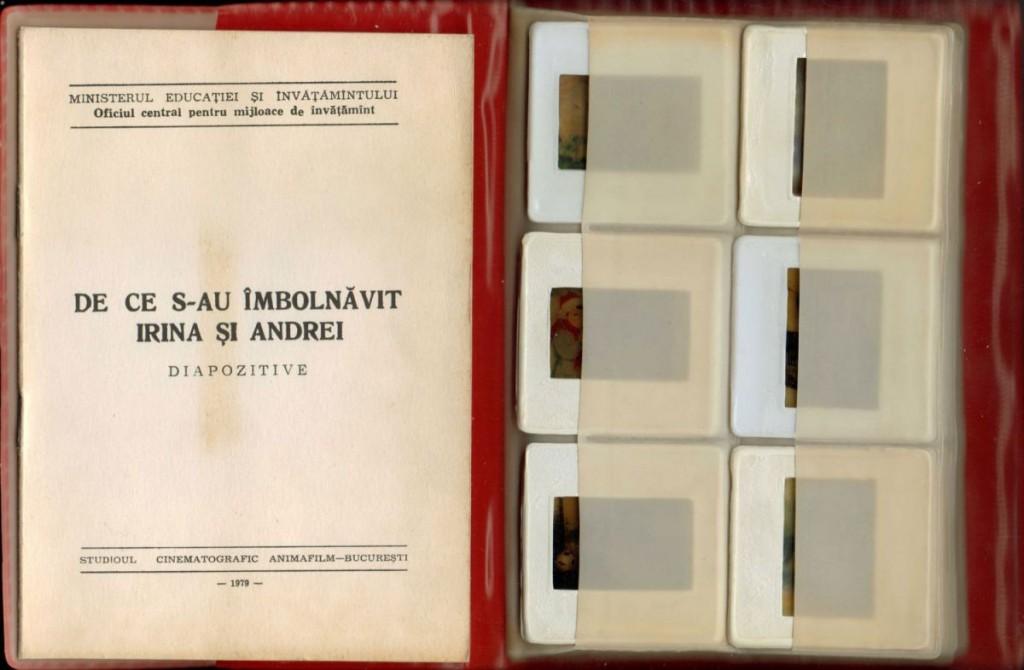 De ce s-au imbolnavit Irina si Andrei, Animafilm, 1979, 30 diapozitive