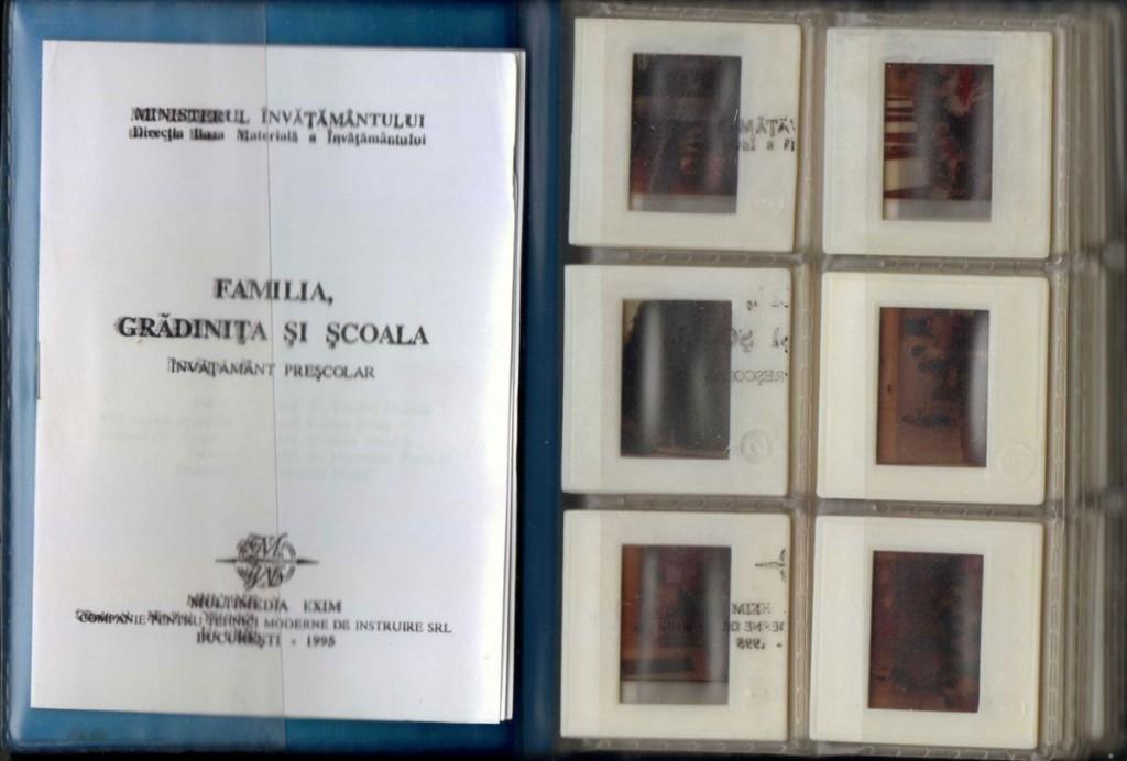Familia, Gradinita si Scoala, Ministerul Invatamantului, 1995, 36 diapozitive
