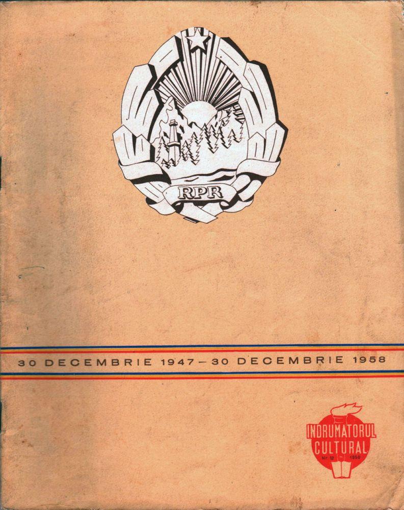 Indrumatorul cultural nr 12 1958