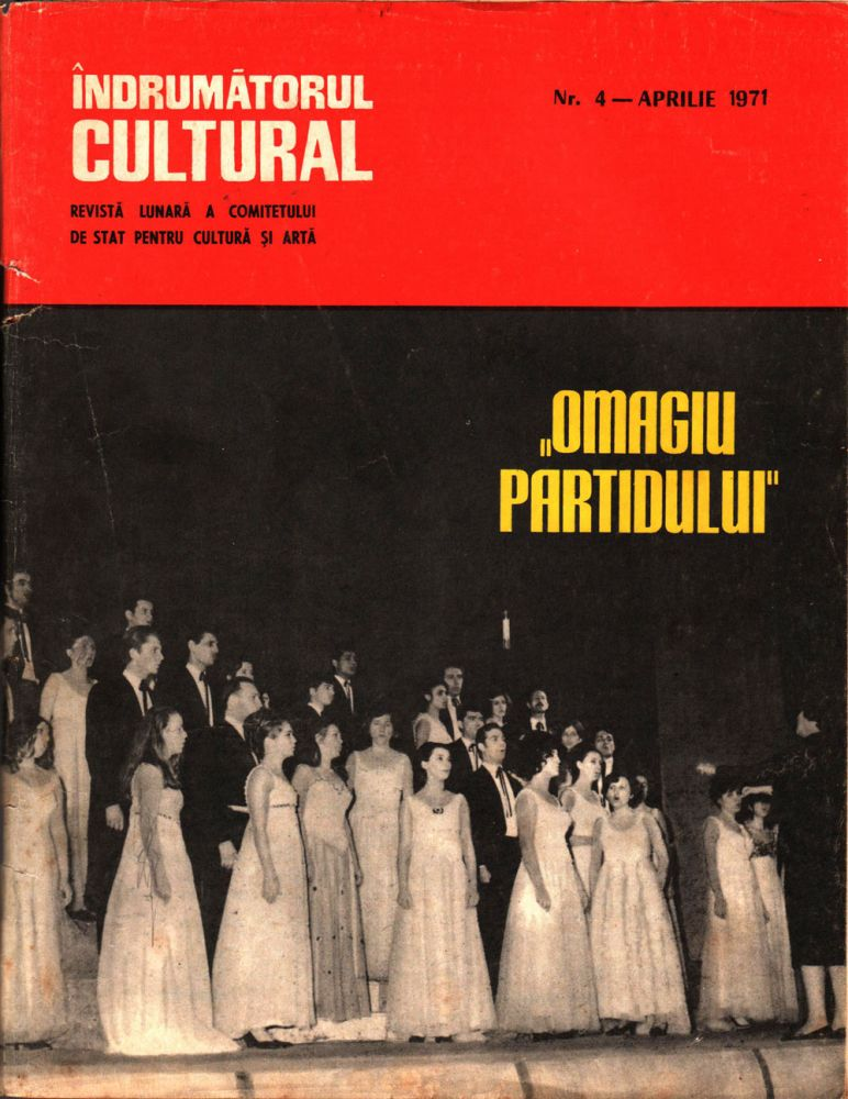 Indrumatorul cultural nr 4 aprilie 1971