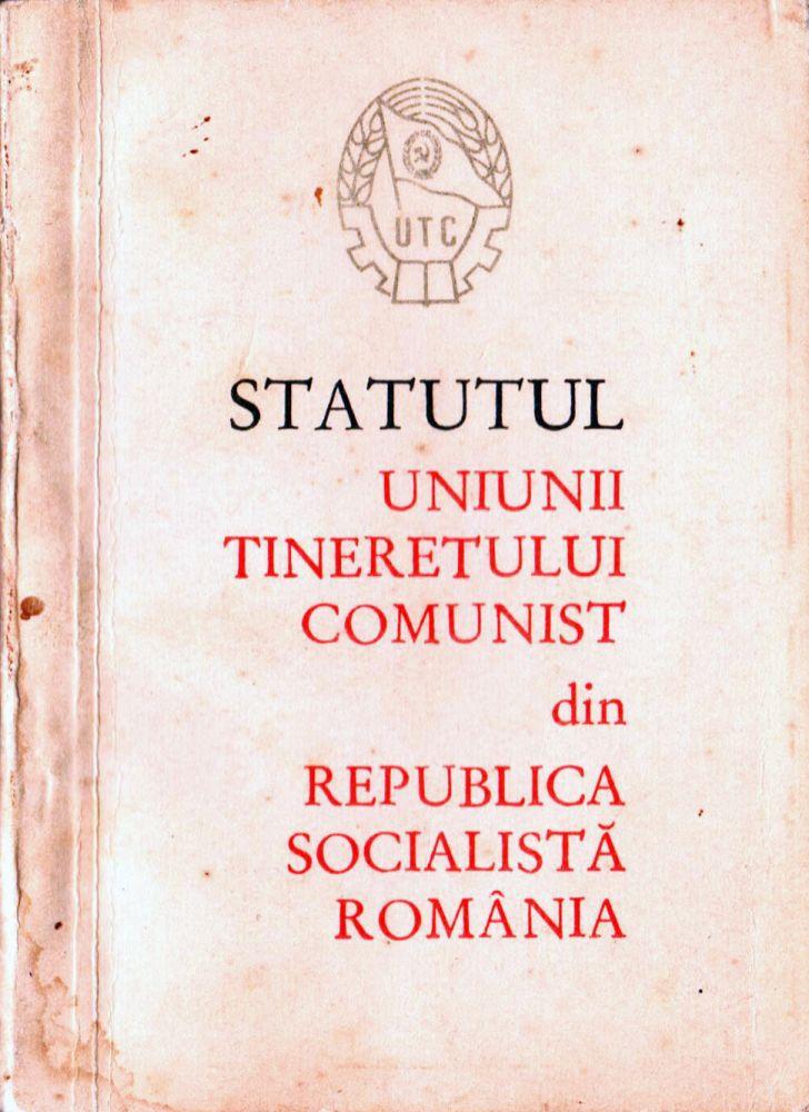 Statutul Uniunii Tineretului Comunist din RSR, Editura politica 1966