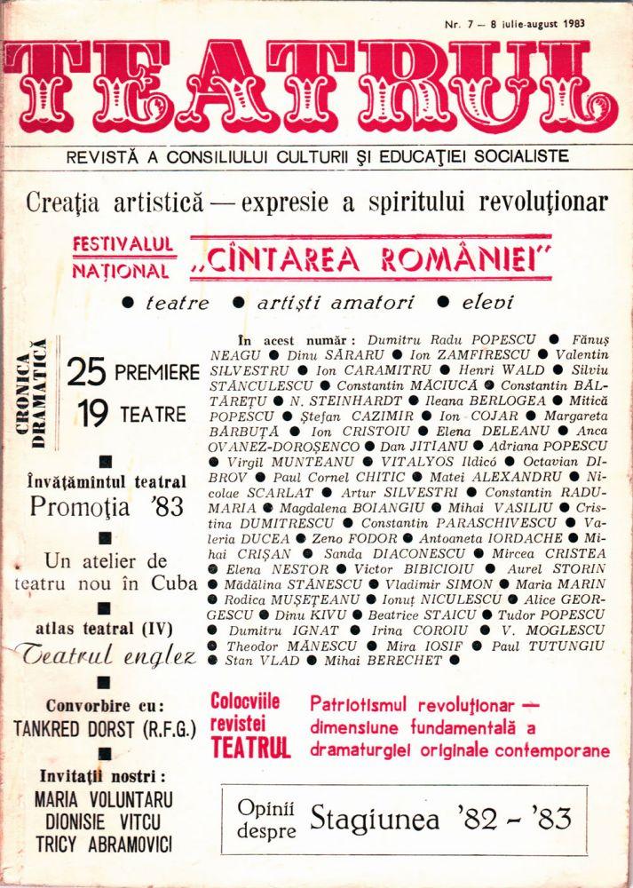 Teatrul nr 7-8, iulie-august 1983