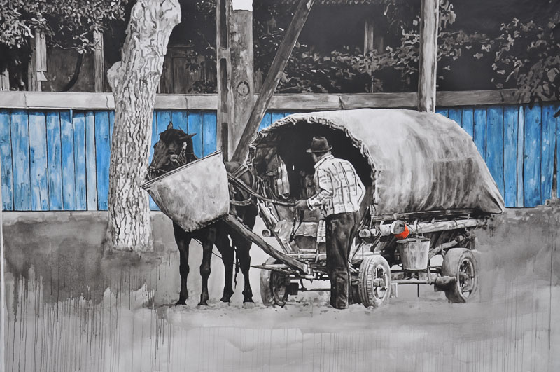 Daniel Brici, Trafic d art, 150x200cm, oil on canvas, 2010