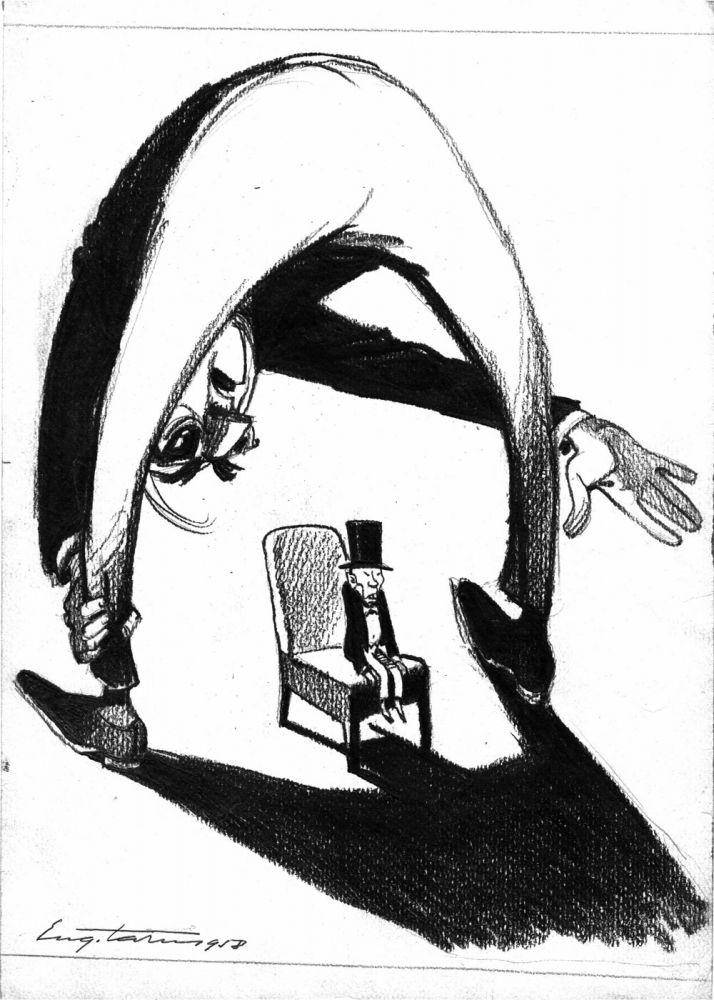 Eugen Taru, Pozitia SUA la ONU, 1958, 30x21 cm