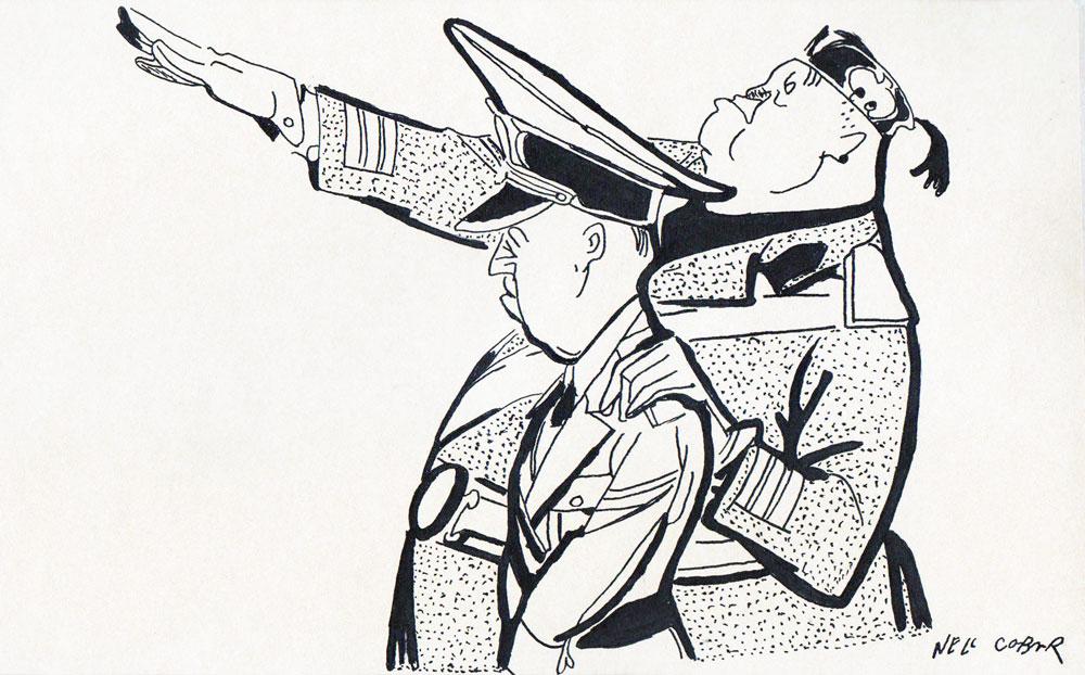 Ion Antonescu and Benito Mussolini