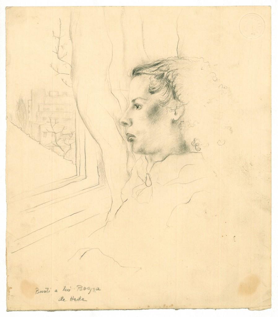 Hedda Sterne, Bunti a lui Geo Bogza, 24 x 28 cm