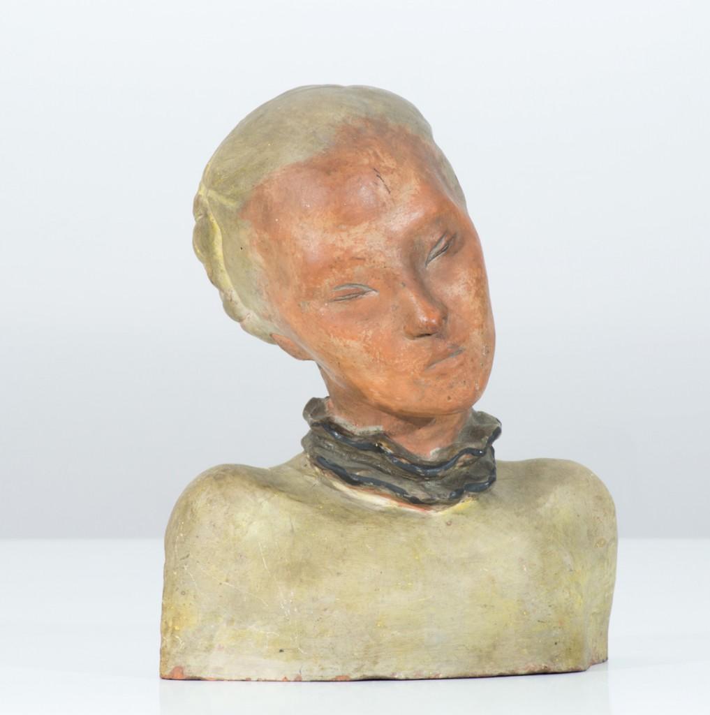 Hedda Sterne, Medi Dinu, terracotta colored, h 24 cm, 1938