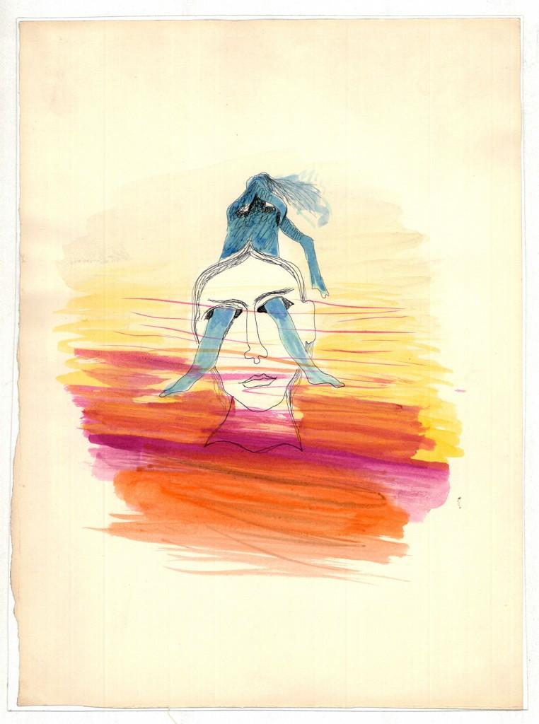 Hedda Sterne, Untitled 2, 24,5 x 33 cm
