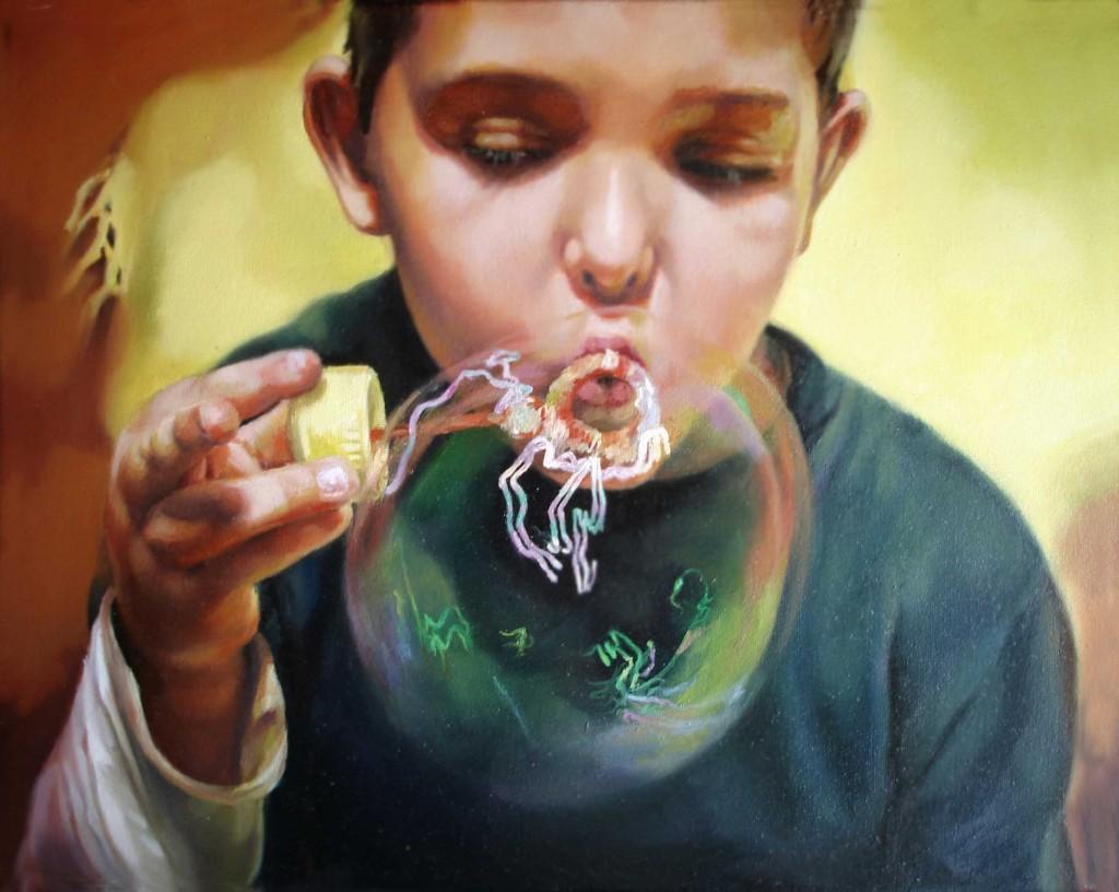 Anca Danila, Anamnesis (4). oil on canvas 50 x 40 cm, 2008