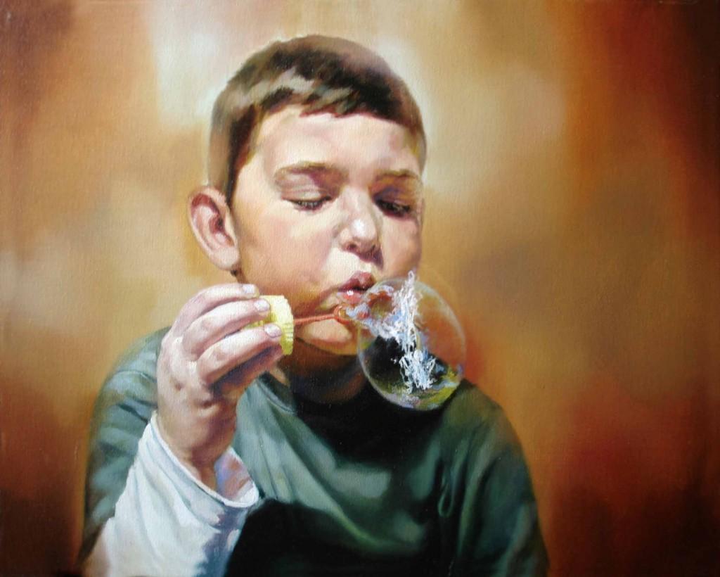 Anca Danila, Anamnesis (5), oil on canvas, 50 x 40 cm, 2008