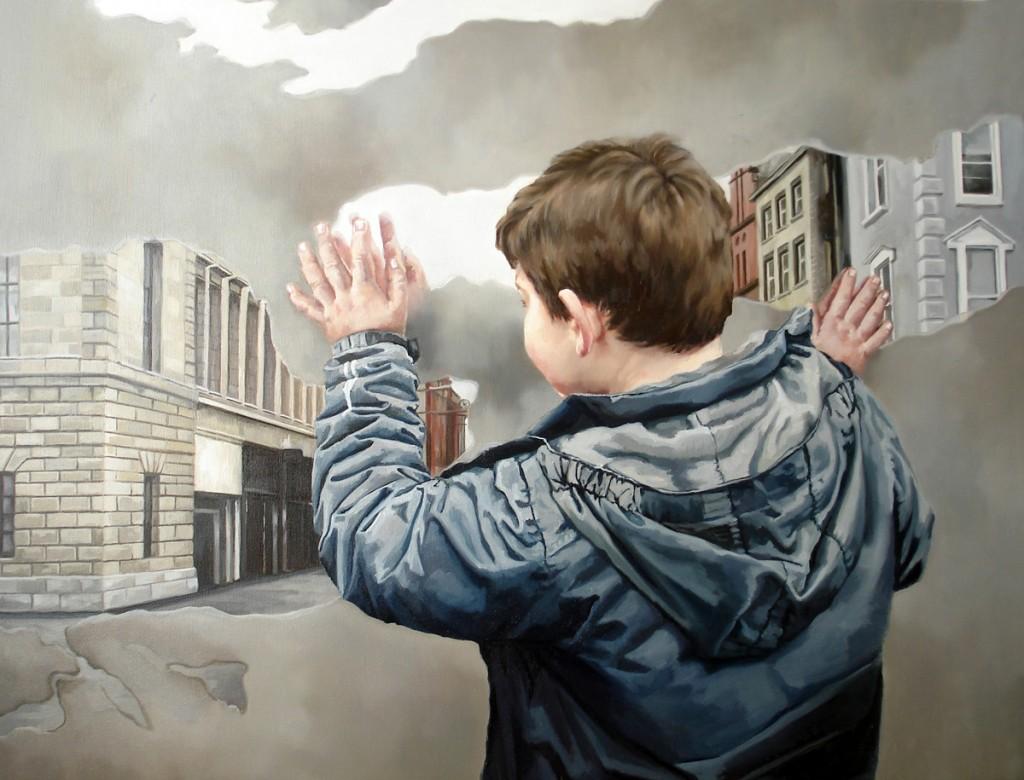 Anca Danila, Inside and outside, oil on canvas, 70 x 90 cm, 2012