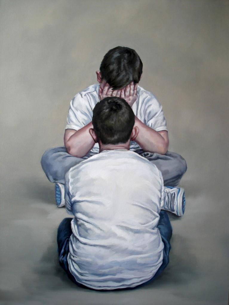 Anca Danila, Self-Reflection oil on canvas, 70  x 100 cm,  2013