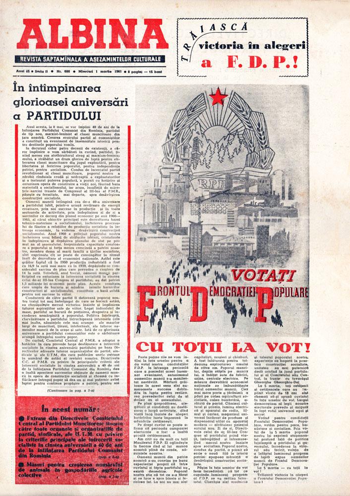 Albina 1 martie 1961