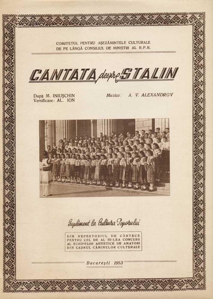 Cantata despre Stalin, 1953