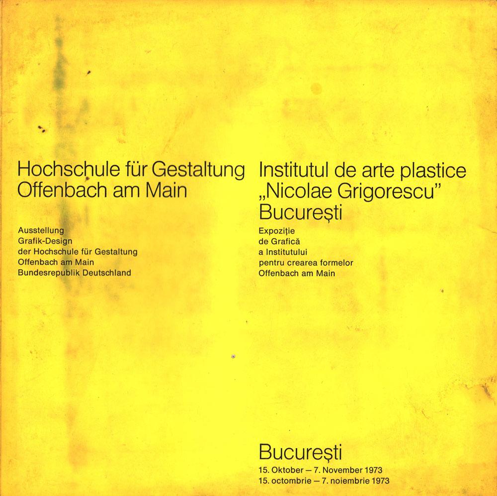Expozitie de grafica a institutului pentru cercetarea formelor Offenbach am Main, 1973